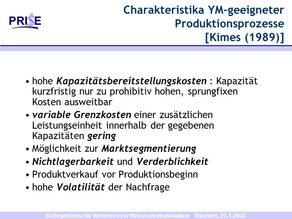 Charakteristika YM-geeigneter Produktionsprozesse [Kimes (1989)]